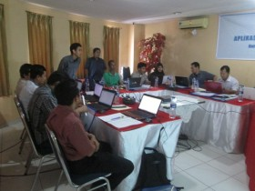 Suasana Training GIS & Webgis 2015