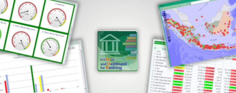 Webgis and Dashboard for Banking
